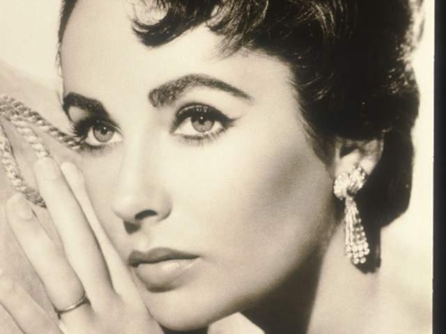 elizabeth taylor poses in an old film still circa 1950 taylor