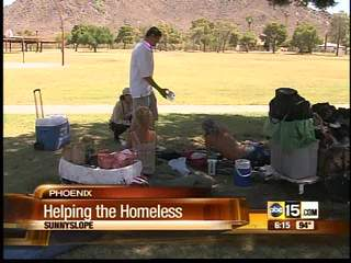 Non-profit helps Arizona's homeless stay cool