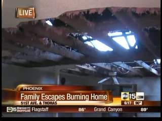 Family escapes burning Valley home