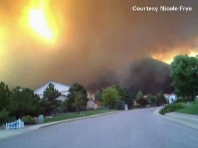 VIDEO: Colorado wildfire victim films her own emotional evacuation
