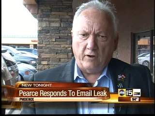 Pearce responds to racist email claims