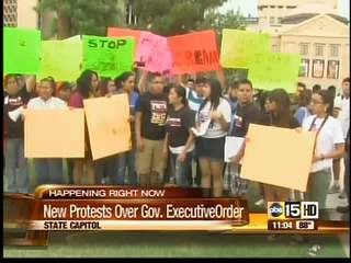 Marchers stage new protest over Governor's order