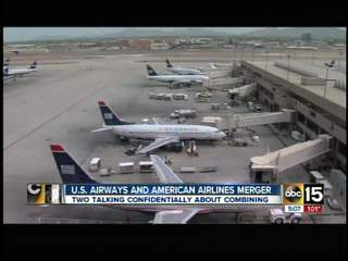 US Airways, American begin merger talks