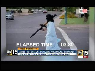 Guy posing as a terrorist hit Valley streets
