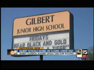 Gilbert schools voting on closing Junior High