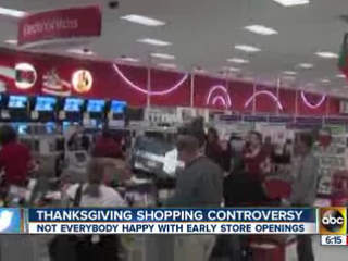 Store workers upset about working on Thanksgiving