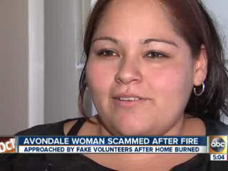 Avondale woman scammed after fire