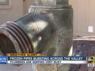 Frozen pipes bursting across the Valley
