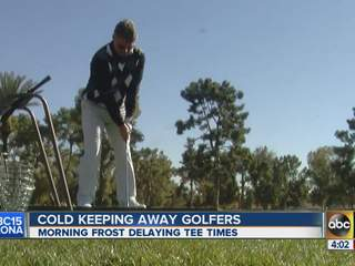 Cold weather keeping away golfers