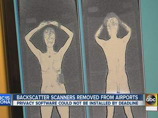 Scanners being removed from Airports