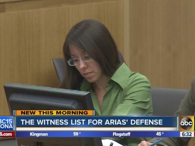 Jodi Arias trial: Defense witness list revealed in Jodi Arias case