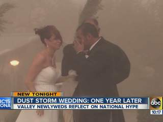 Dust storm wedding: one year later