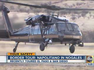 Janet Napolitano tours Arizona border