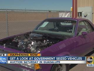 Goverment-seized cars up for auction in Valley