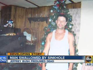 Man swallowed by Sinkhole in Florida!