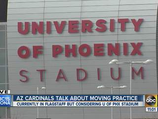 Cardinals talk about moving practice to Valley