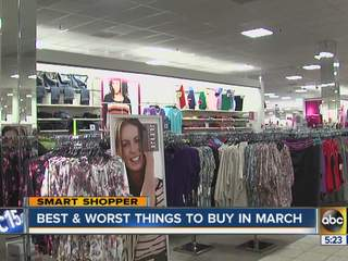 The best and worst things to buy in March