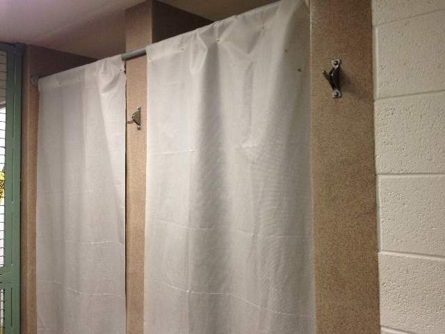Showers next to Jodi Arias' cell at Estrella Jail