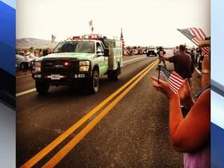 PHOTOS: Prescott 19 return home