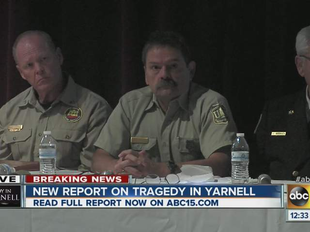 Yarnell Hill Fire report: Officials discuss serious accident report