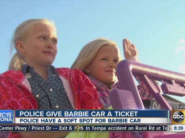 Pink barbie jeep ticketed #5