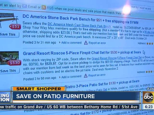 Enjoy The Outdoors And Save Some Money On Patio Furniture