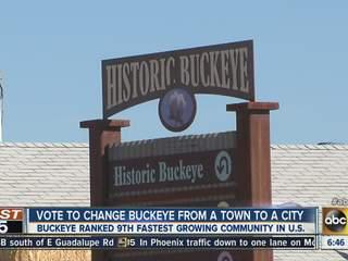 Buckeye from a town to abuckeye town