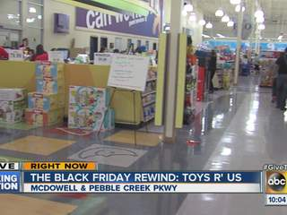 Black Friday: Toys 'R' Us opens during Thanksgiving dinners