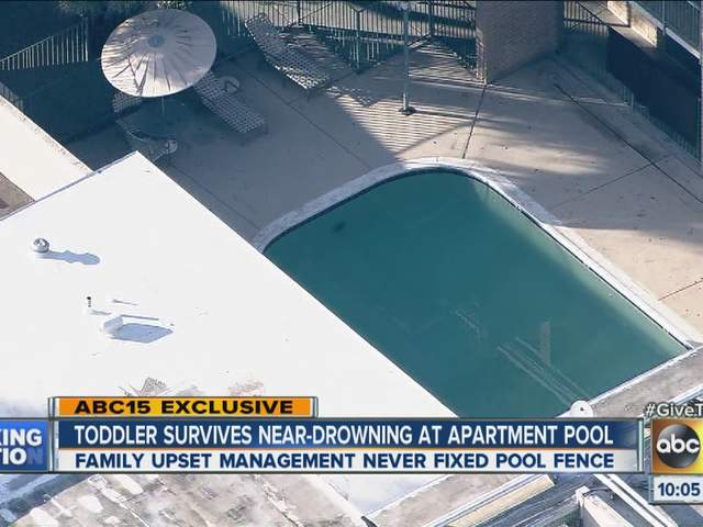 Girl Drowning in Pool Girl Survives Near Drowning in
