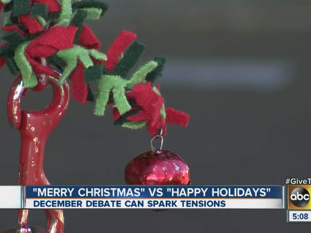 Woman hits salvation army kettle bell ringer who said for Happy christmas vs merry christmas