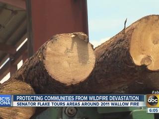 AZ Senator Jeff Flake takes wildfire tour