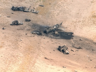 Marine Harrier jet crashes south of Valley