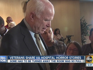 PHX veterans relay anger with VA to McCain