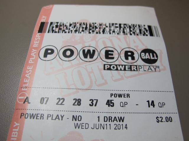 Powerball ticket for Wednesday $1 Million Powerball Ticket