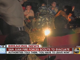 San Juan Fire forces Boy Scouts to evacuate