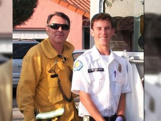 Father restoring fire truck in memory of son