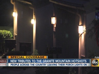 Residents use porch lights to honor Yarnell 19