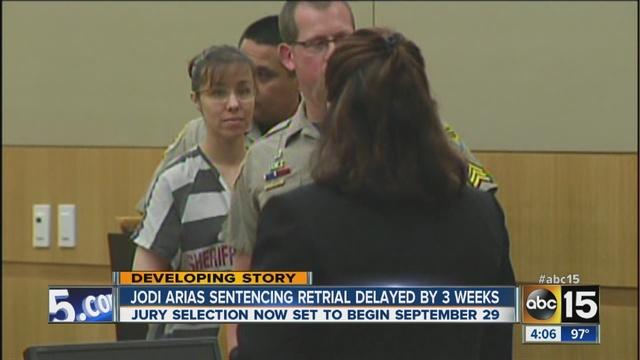 Judge grants Jodi Arias' motion to delay retrial; trial day set for ...