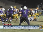 Tempe coach suspended over prayer