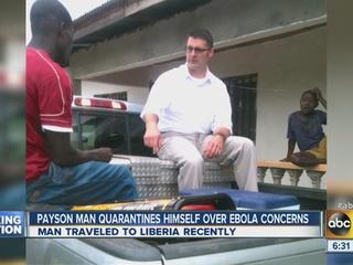 AZ man quarantines self, family over Ebola fears