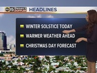 FORECAST: First official day of winter