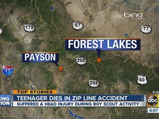 Officials ID AZ teen killed in zip line accident