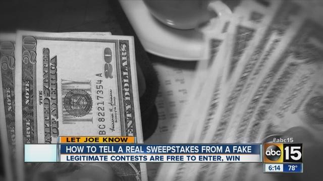 Legitimate contests are free to enter.