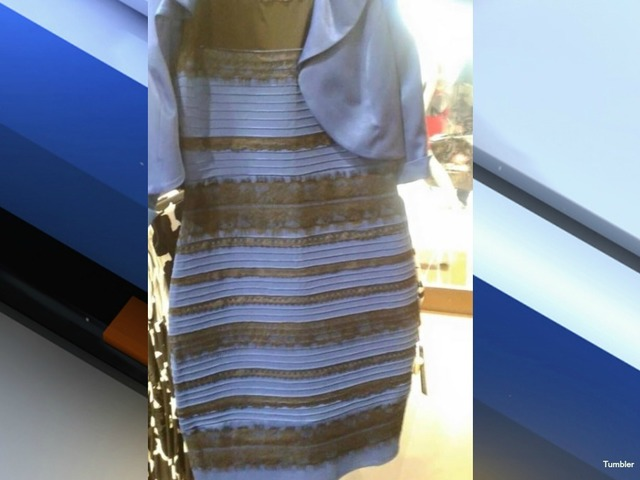 Dress picture white and gold or black and blue