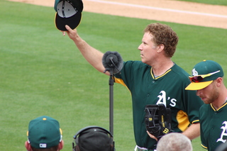 Will Ferrell makes quite the Cactus League debut