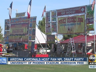 Cardinals host fan NFL draft party