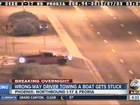 Wrong-way driver with boat stopped on I-17