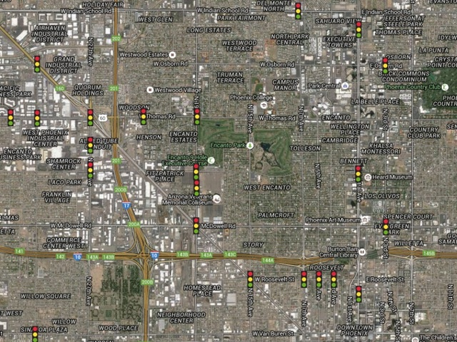 MAP Traffic Signal Outages After Monday Storms  ABC15