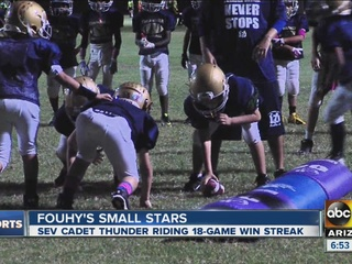 Small Stars: SEV Cadet Thunder Football team