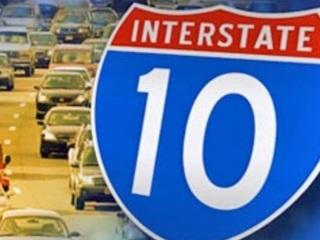Weekend I-10 closure postponed for weather